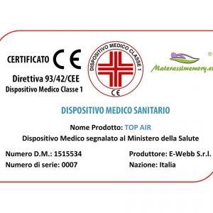 Materasso memory con certificazioni